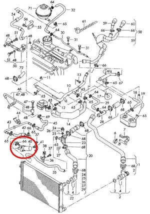 Vwvortex  2003 Jetta Cooling System Question within 2003 Vw Jetta 20 Engine Diagram