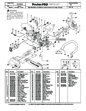 Poulan Wild Thing Chainsaw Parts Diagram | Automotive