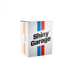 Kartonbox weiss mit Shiny Garage Logo