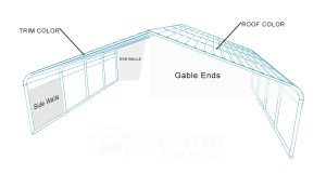 Steel Carport Kits  Metal Carport Kits $595