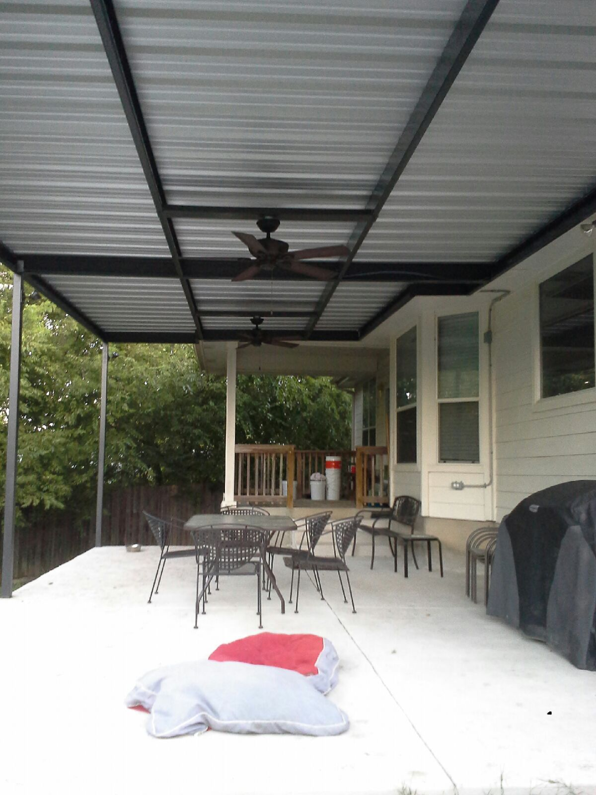 Large Attached Awning Windcrest Texas Carport Patio