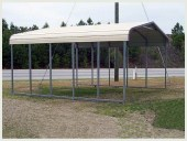 Steel Buildings Carport Standard Style Top covered only