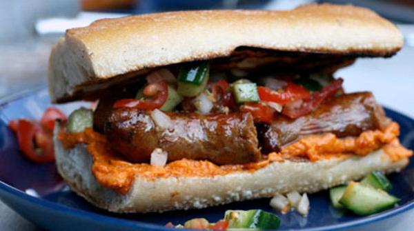 sausage-bagette