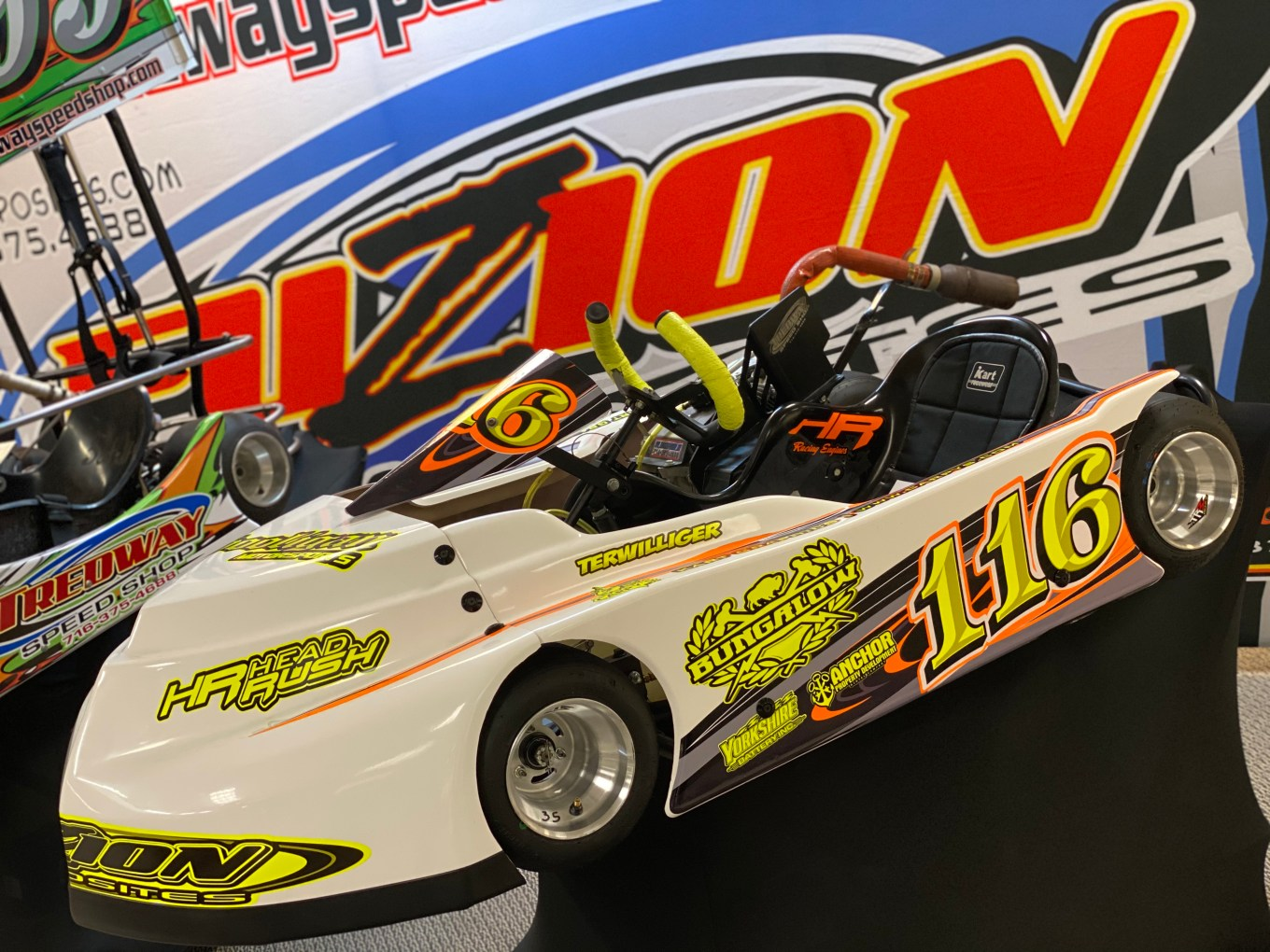 Jost Terwillger's Tredway Speed Shop Kart Wrapped by Carpy's in Olean, NY