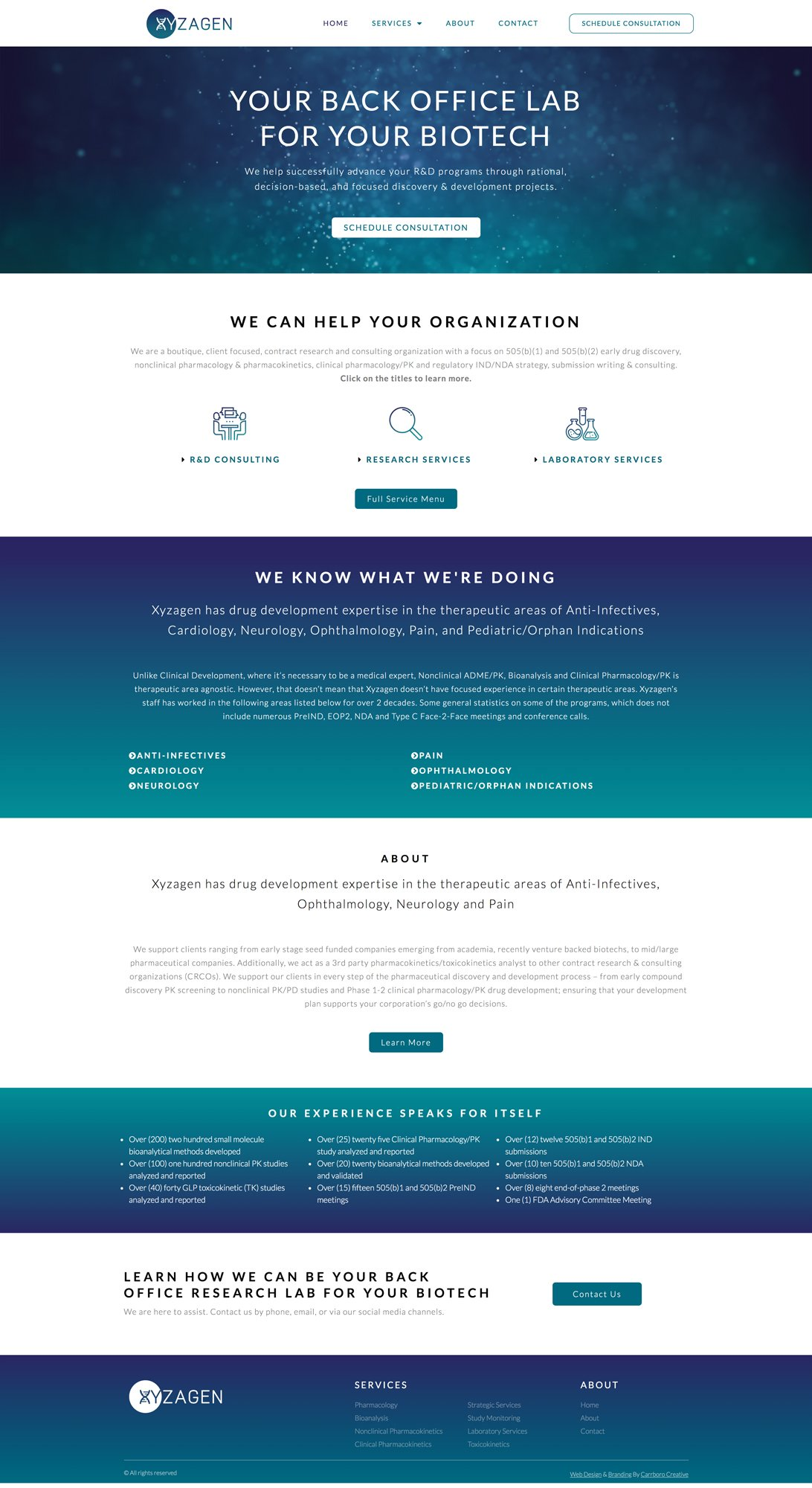 Xyzagen-Homepage