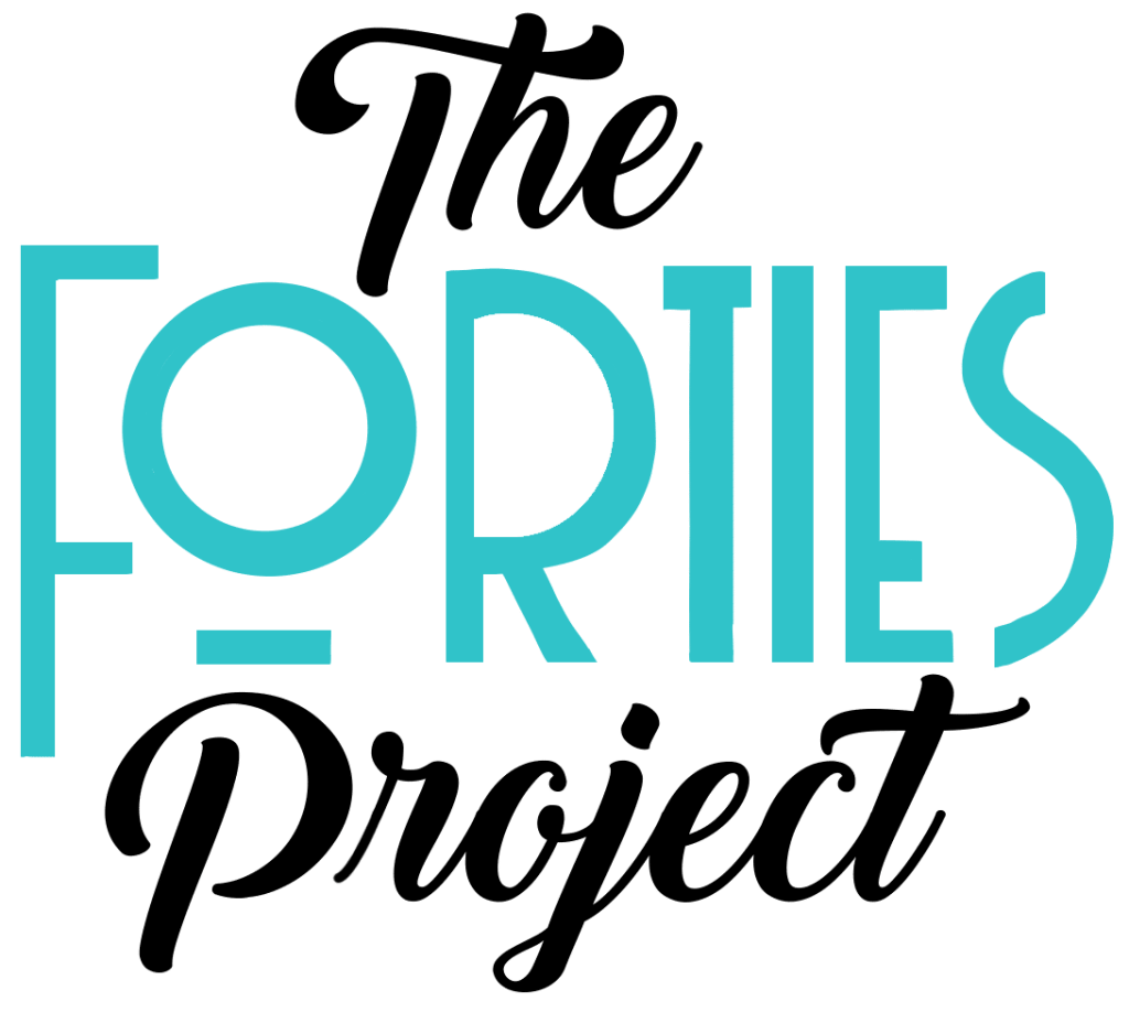 the forties project logo teal