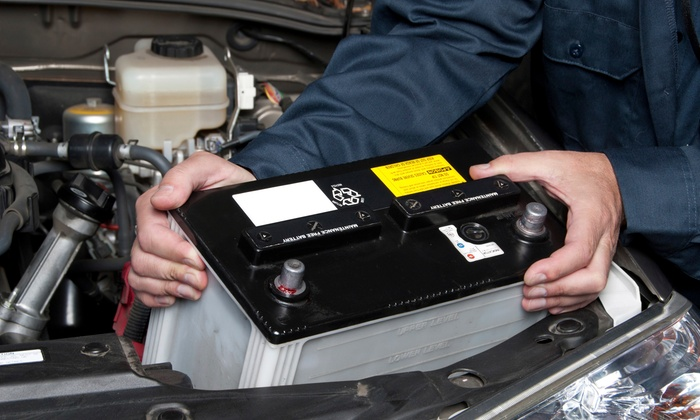 car battery replacement by car towing