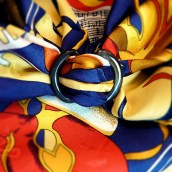Anneau Infini Horn Scarf Ring with Carnaval de Venise Carre de Paris