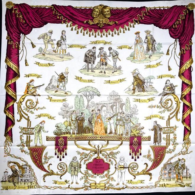 La Comedie Italienne Hermes Silk Jacquard Scarf-16