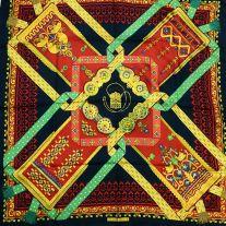 Brins d'Or HERMES 36 inch Vintage Silk Scarf 1982