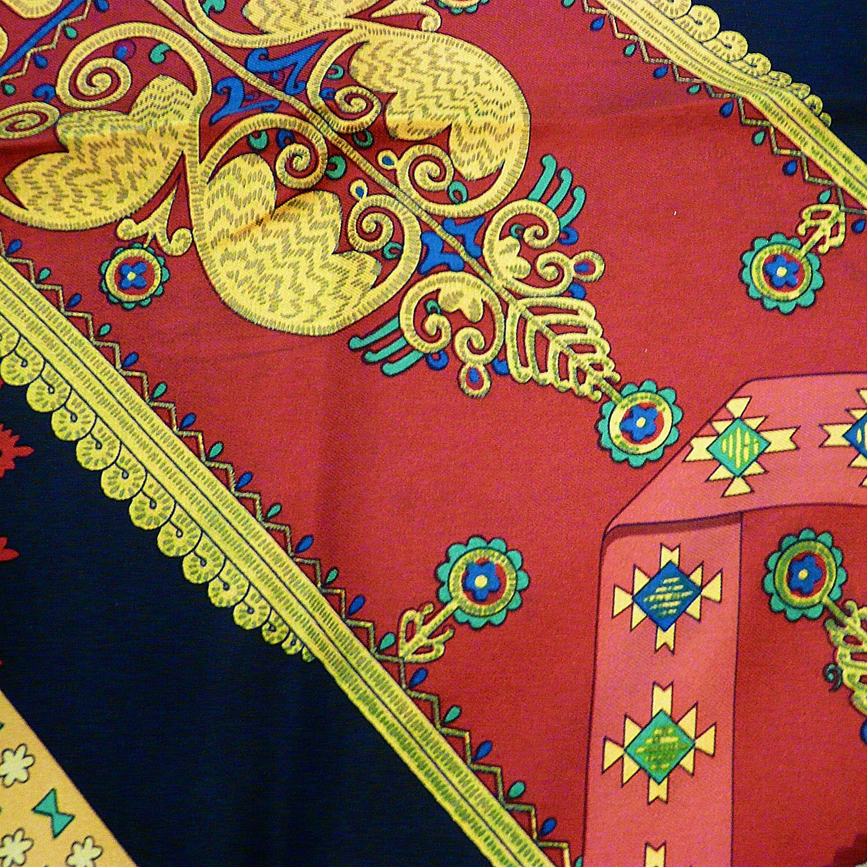 Brins d'Or HERMES Vtg Silk Scarf Colortransfer 1
