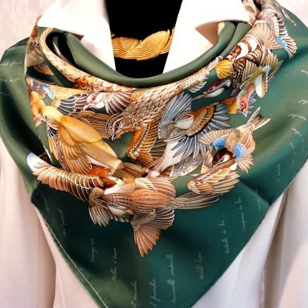 L'Intrus HERMES Silk Scarf Artist Antoine de Jacquelot