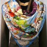 Les Ameriques HERMES Silk Scarf Paired with Hermes Riding Blazer