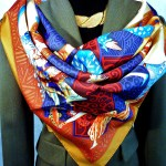 Les Ballets Russes HERMES here paired with Hermes Riding Jacket
