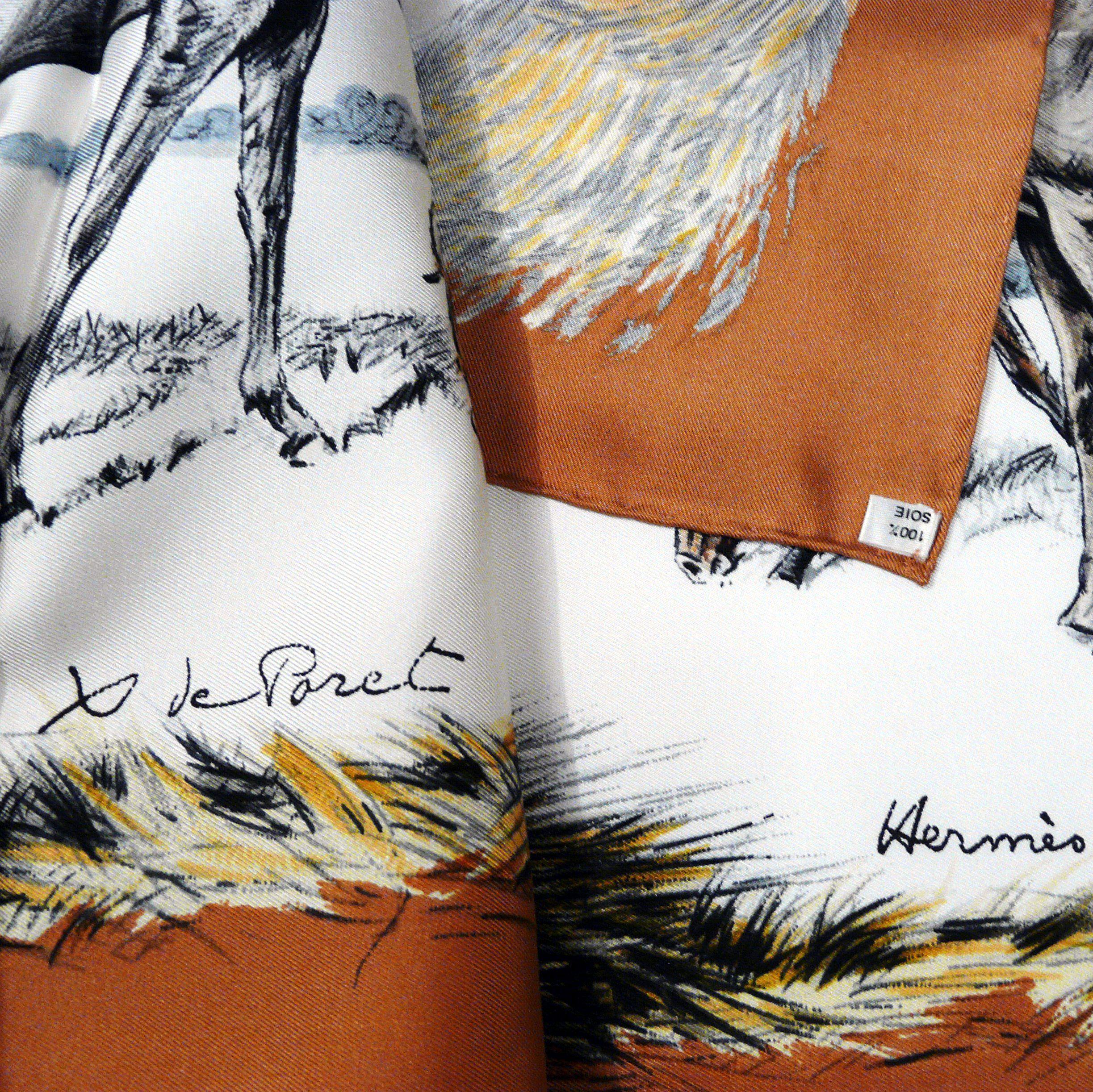 Les Poulains HERMES Paris Xavier de Poret Signature and care tag