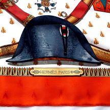 Napoleon HERMES Paris Silk Jacquard Scarf