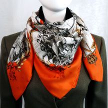 Napoleon HERMES Scarf Red and Green
