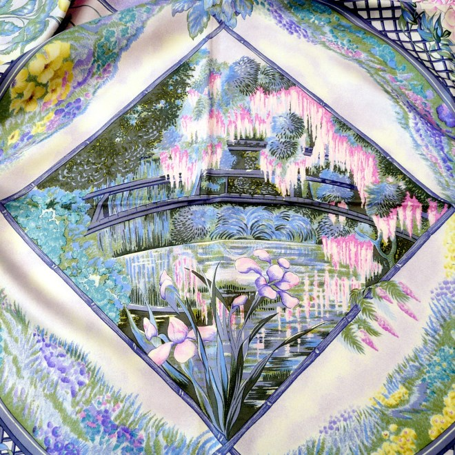 Giverny HERMES Scarf signed L.T.