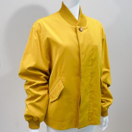 Mens Windbreaker HERMES Gold Color Sz 48