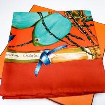 Jardin Creole HERMES Silk Scarf with box
