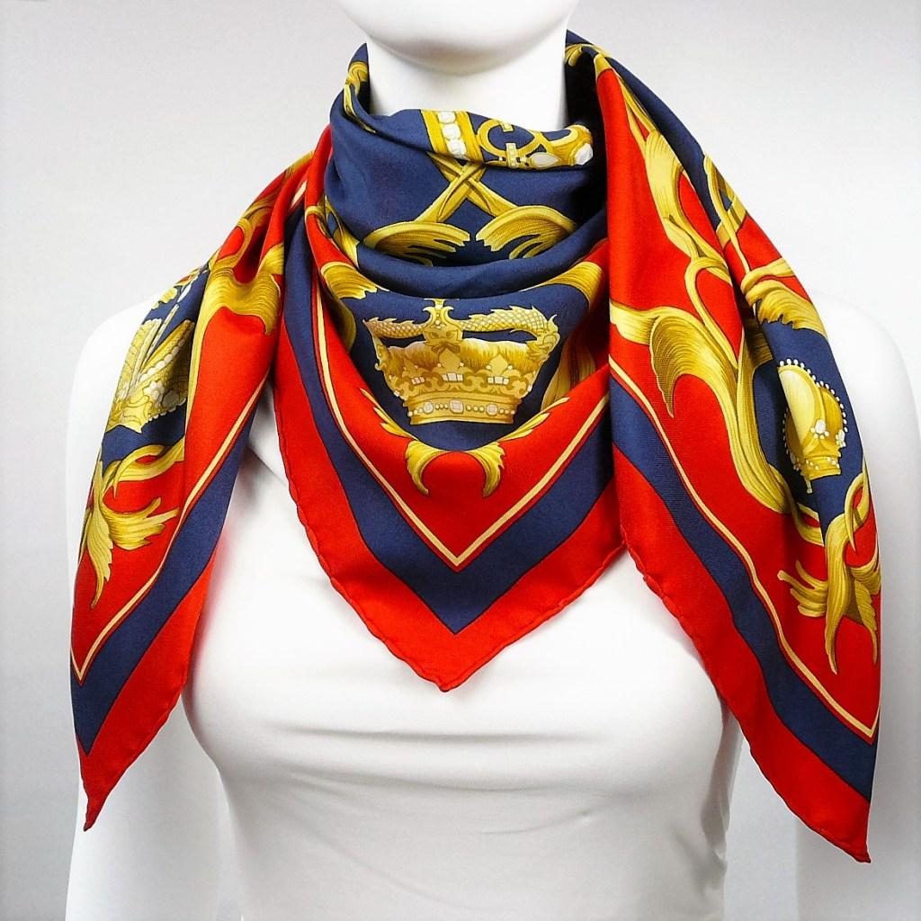 Crown HERMES Silk Scarf