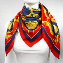 Crown HERMES Silk Scarf