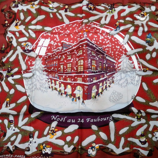 Noel au 24 Faubourg HERMES Carre