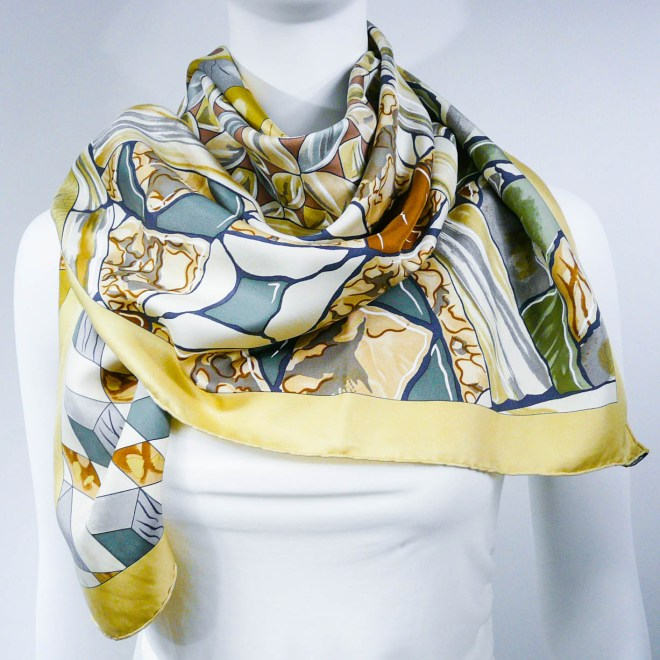 Authentic Vintage Hermes Silk Scarf Trophees de Venise II