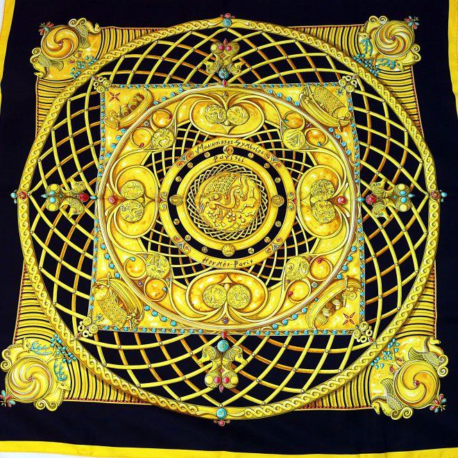 Monnaies et Symboles des Parisii HERMES carre by Zoe Puawels 2006