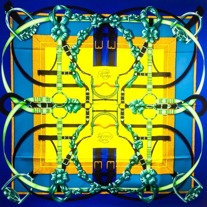Grand Manege HERMES Silk Scarf (11)