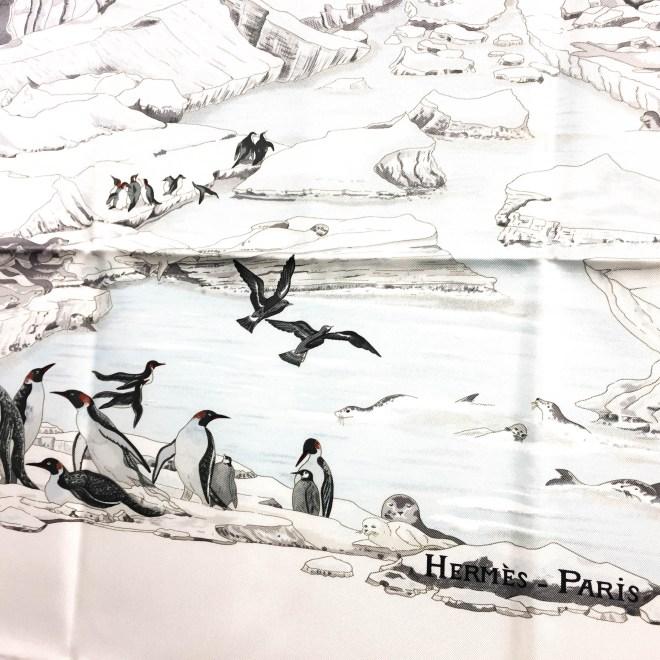 Hommage a l'Explorateur Sir Ernest Shackleton HERMES Grail Silk Scarf_-9