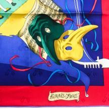 Le Carnaval de Venise HERMES Silk Scarf NIB-5