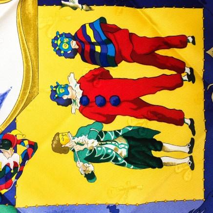 Le Carnaval de Venise HERMES Silk Scarf NIB-9