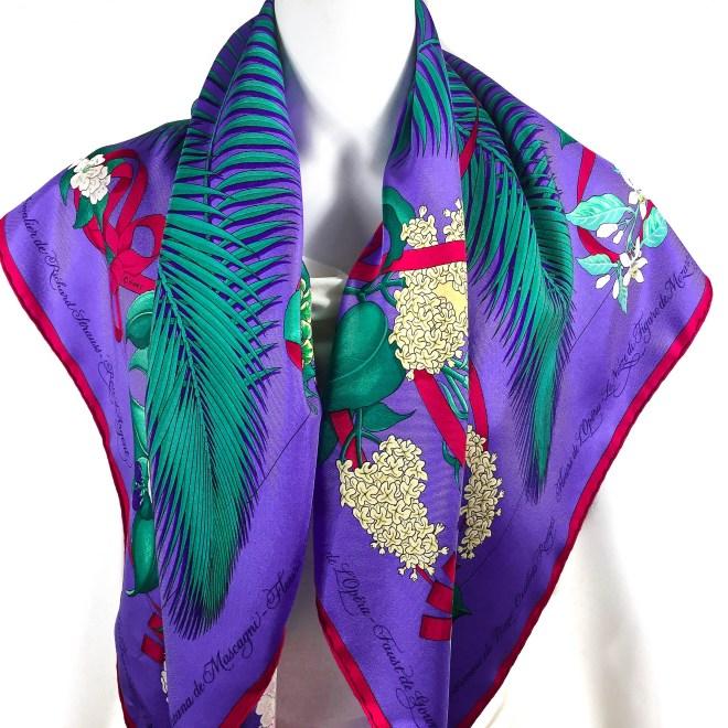 Fleurs d'Opera HERMES Silk Scarf-9