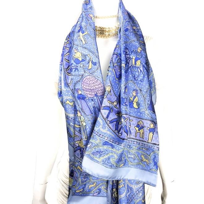 Lalbhai HERMES Summer Silk Scarf 140cm