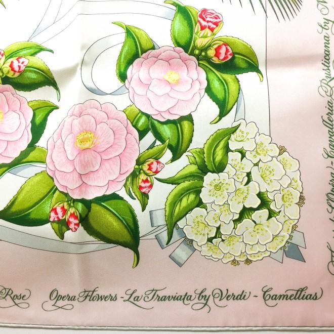Opera Flowers Special Metropolitan Opera Edition VTG HERMES Silk Scarf Unworn RARE-3
