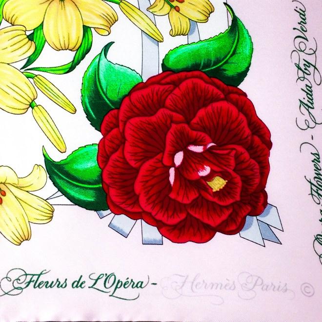 Opera Flowers Special Metropolitan Opera Edition VTG HERMES Silk Scarf Unworn RARE-4