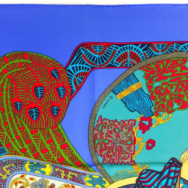 Art des Steppes Hermes HERMES Silk Scarf NIB-12