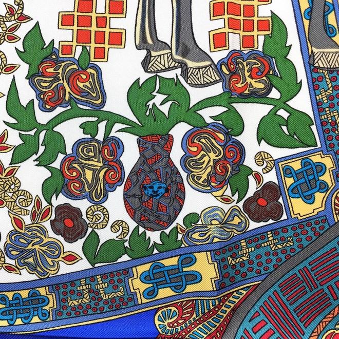 Art des Steppes Hermes HERMES Silk Scarf NIB-22