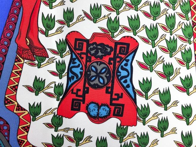 Art des Steppes Hermes HERMES Silk Scarf NIB-23