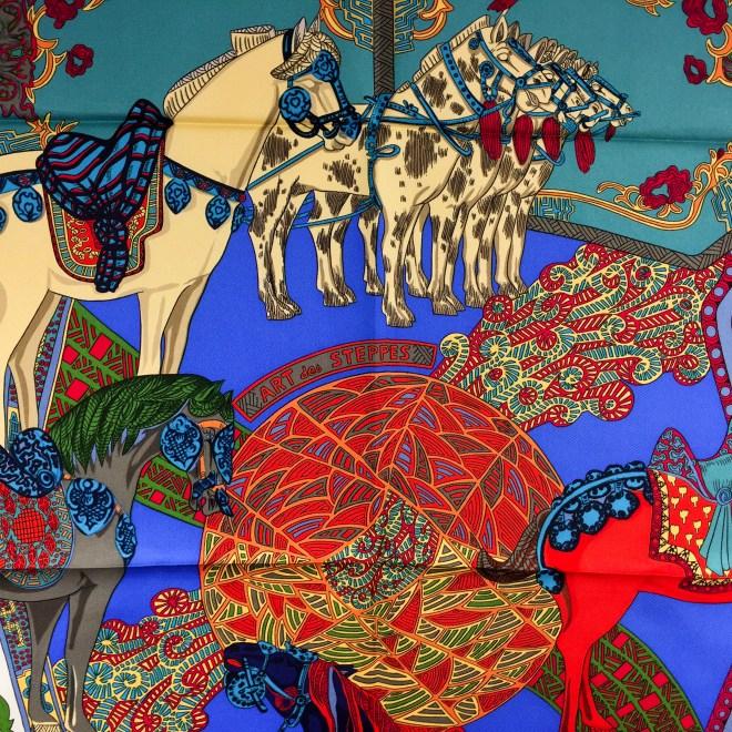 Art des Steppes Hermes HERMES Silk Scarf NIB-3.jpg