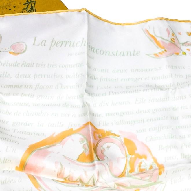 La Perruche HERMES Silk Pocketsquare-2