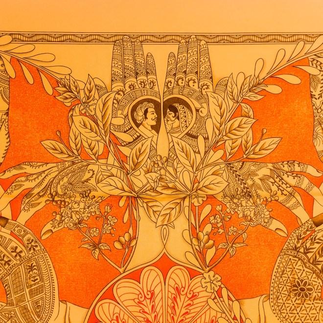 Le Chants du Henne HERMES Silk Scarf-6