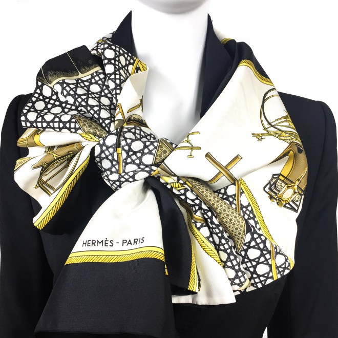 Les Voitures a Transformation HERMES Silk Opera Scarf RARE-3