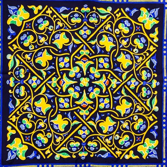 Ciels Byzantins Hermes Silk Jacquard Scarf_-6