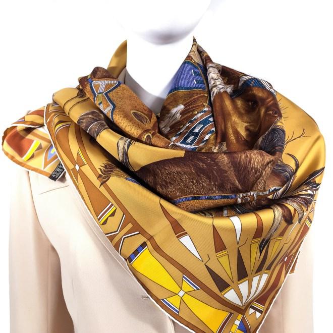 Hermes Silk Scarf Apparat des Plaines-3
