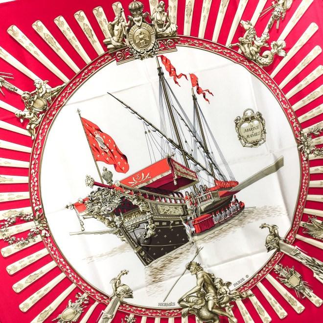 Hermes Silk Scarf La Marine a Rames Vintage RARE-6.jpg