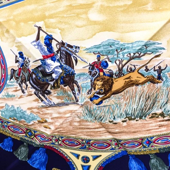 Hermes Silk Scarf Cavaliers Peuls NIB-10