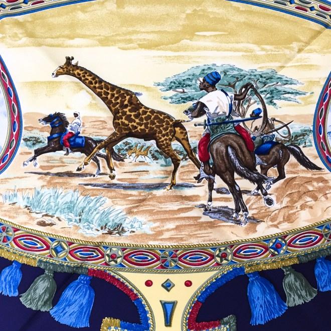 Hermes Silk Scarf Cavaliers Peuls NIB-12