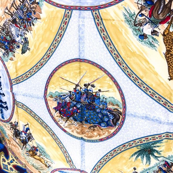 Hermes Silk Scarf Cavaliers Peuls NIB-14